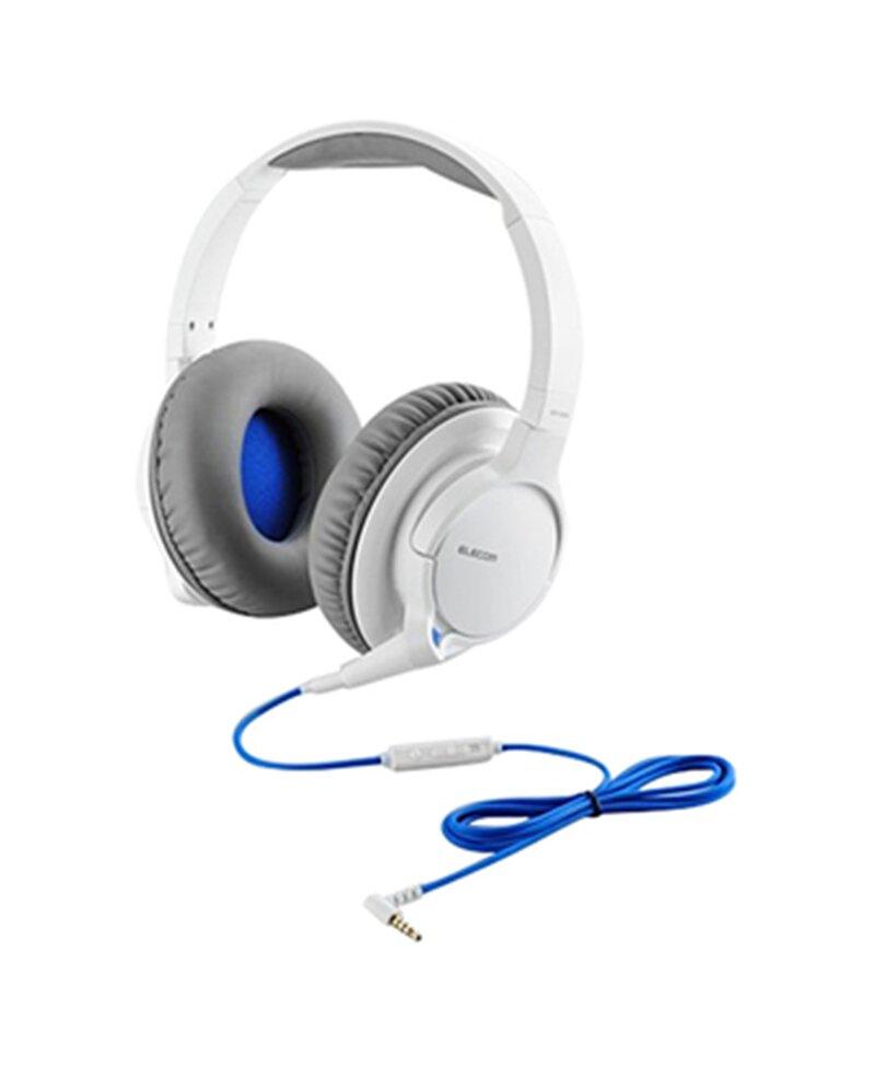 Tai nghe Elecom choàng đầu có mic EHP-OS300WH-G