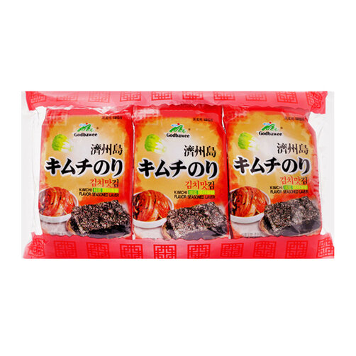 Tảo biển vị kim chi Godbawee túi 3 gói x 5g