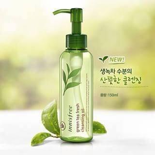 Tẩy trang trà xanh Innisfree Green Tea Fresh Cleansing Oil 150ml