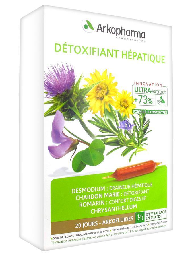 Thải độc gan Arkopharma Arkofluides Détoxifiant Hépatique Bio