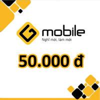 Thẻ cào Gmobile mệnh giá 50.000 đồng