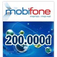 Thẻ cào MobiFone mệnh giá 200.000 đồng