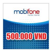 Thẻ cào MobiFone mệnh giá 500.000 đồng