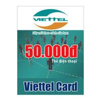 Thẻ cào Viettel mệnh giá 50.000 đồng