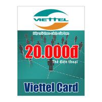 Thẻ cào Viettel mệnh giá 20.000 đồng