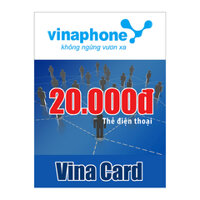 Thẻ cào Vinaphone mệnh giá 20.000 đồng