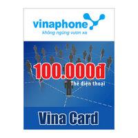 Thẻ cào Vinaphone mệnh giá 100.000 đồng