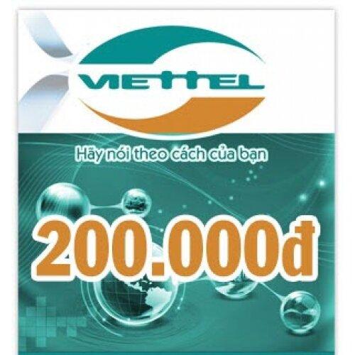 Thẻ điện thoại Viettel 200.000 đồng