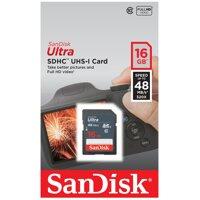 Thẻ nhớ SanDisk SDHC Ultra 16Gb Class 10 48mb/s
