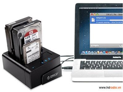 Thiết bị đọc dữ liệu 3 ổ cứng Dock Orico 6638US3-C USB 3.0