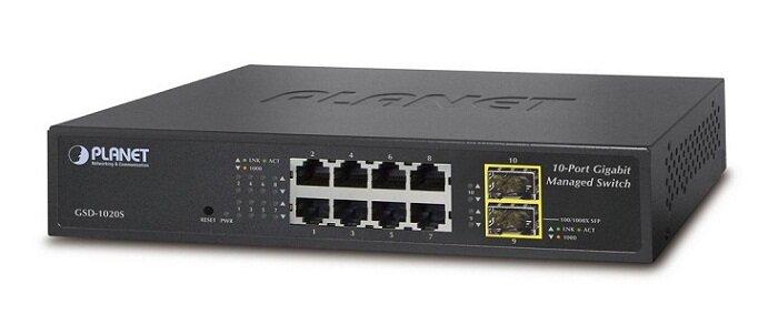 Thiết bị mạng Planet Switch GSD-1020S, 8-Port