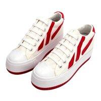 Thời Trang Với Giày Tăng Chiều Cao Nữ Phối 3 Sọc KT56