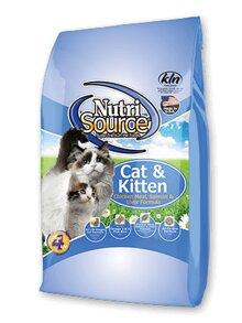 Thức ăn cho mèo Nutrisource Cat&Kitten Chicken Meal, Salmon & Liver Formula - 3kg, dành cho mèo sơ sinh đến trưởng thành