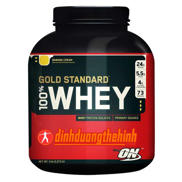 Thực phẩm bổ sung sữa tăng cơ bắp protein 10 Lbs whey gold Standard