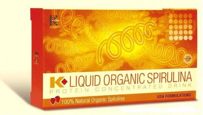 Thực phẩm bổ sung tảo xoắn k- Liquid Organic Spirulina