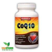 Thực phẩm chức năng hỗ trợ tim mạch - chống lão hóa Pharmekal CoQ10 30mg 30 viên