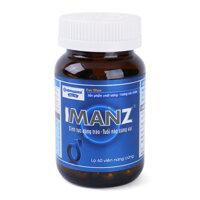 Thực phẩm chức năng hỗ trợ tăng cường sinh lực, bổ thận Imanz 60 viên