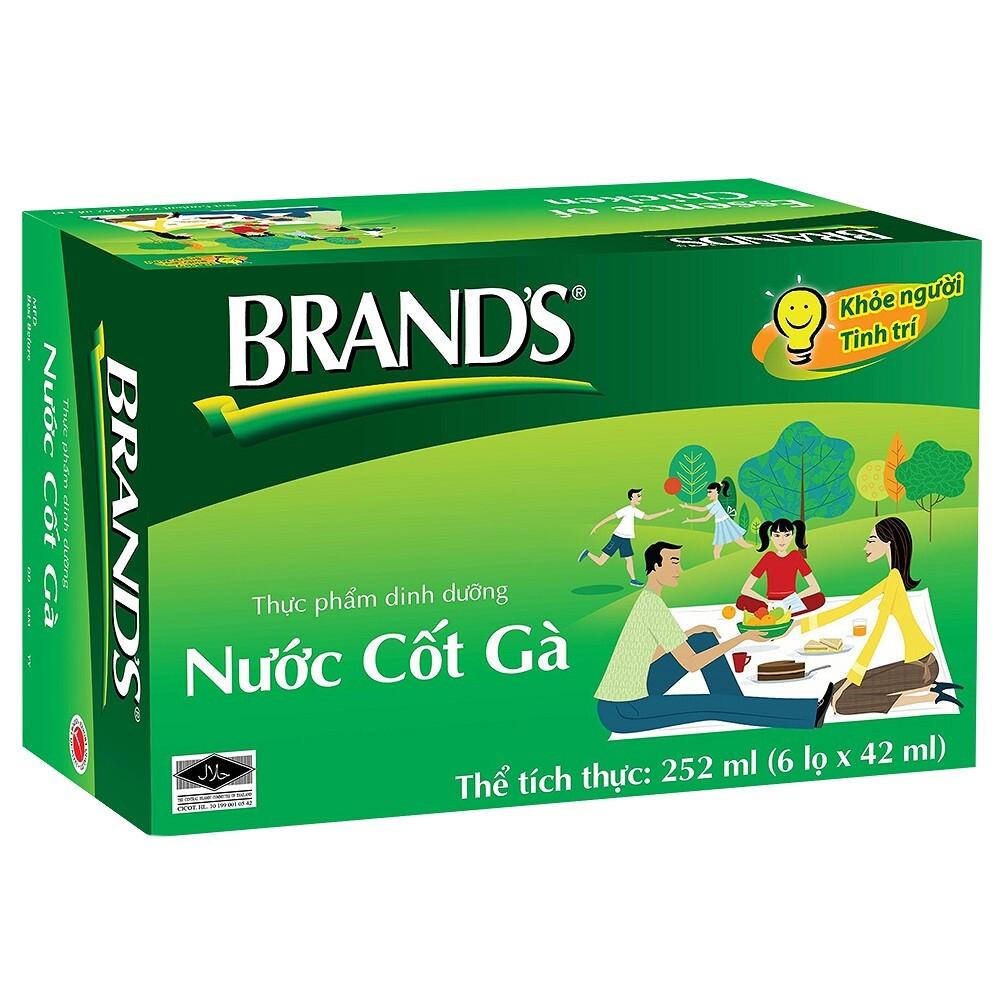Thực phẩm chức năng hộp 6 hũ nước cốt gà Brand's 42ml