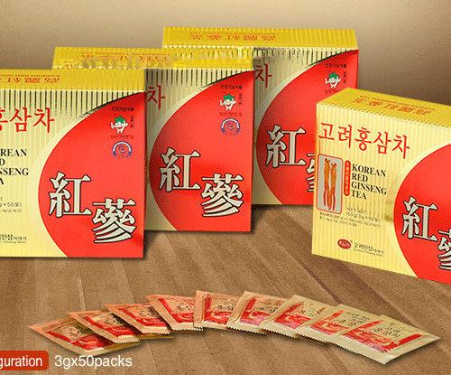 Thực Phẩm Chức Năng Trà hồng sâm KGS 150g (50 gói x 3g)