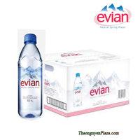 Thùng 24 chai nước khoáng thiên nhiên Evian 500ml