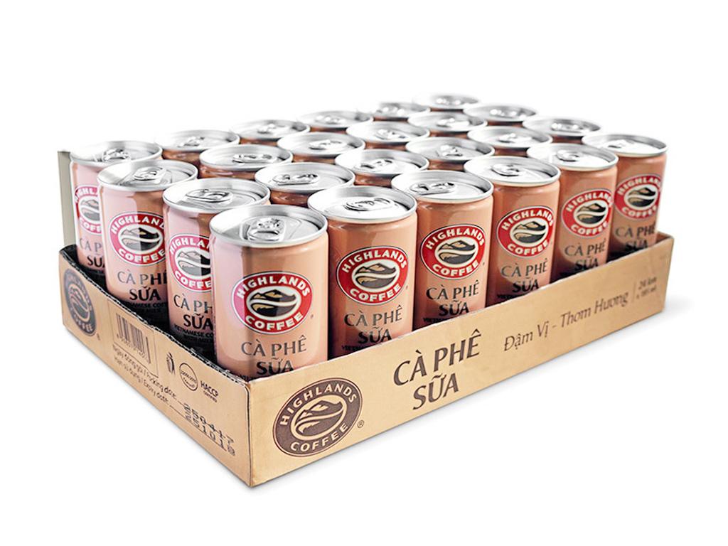 Thùng 24 lon cà phê sữa Highlands 235ml