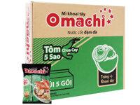 Thùng 30 gói mì khoai tây Omachi tôm chua cay 5 sao 78g