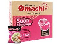 Thùng 30 gói mì khoai tây Omachi sườn hầm ngũ quả 80g