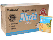 Thùng 36 bịch sữa đậu nành Nuti Canxi 200ml