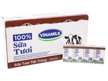 Thùng 48 hộp sữa tươi socola Vinamilk 100% Sữa Tươi 110ml