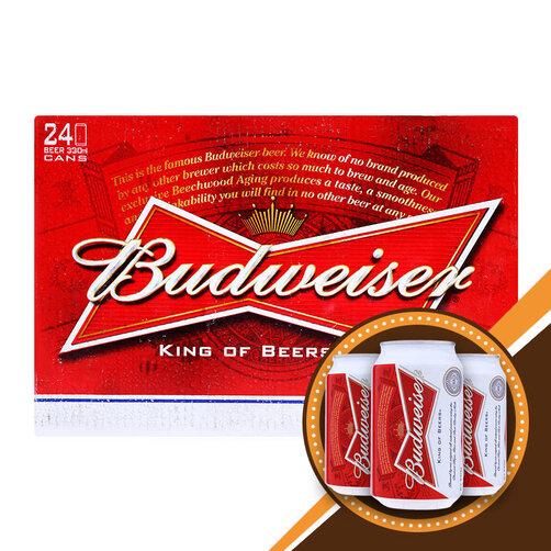 Thùng bia Budweiser 24 lon 330ml