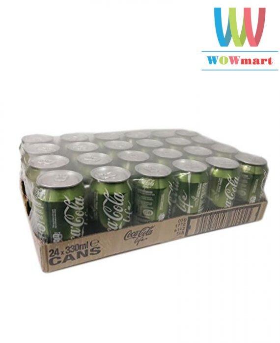Thùng nước ngọt Coca Cola Life 24 lon