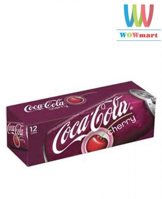 Thùng nước ngọt Coca Cola Cherry 12 lon