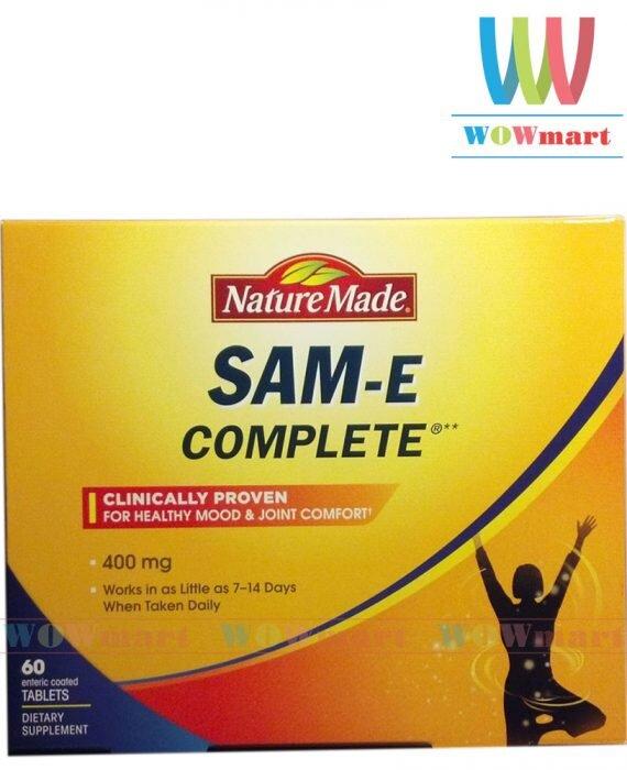 Thuốc an thần an toàn Nature Made SAM-e Complete 400mg 60 viên