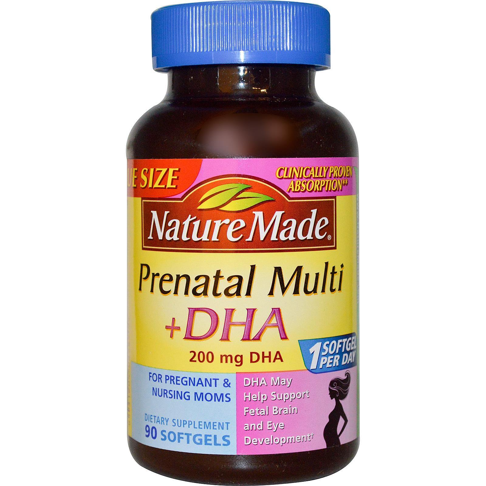 Thuốc bổ bà bầu Nature Made Prenatal Multi + DHA – 90 viên