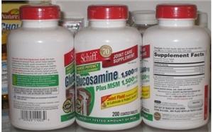 Thuốc Bổ Khớp Schiff Glucosamine Plus Msm – 1500mg , 200 viên
