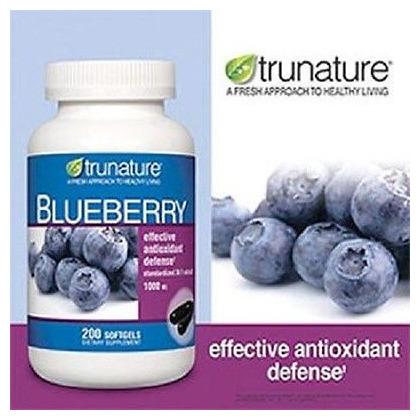 Thuốc bổ não từ trái việt quất Trunature Blueberry 1000mg 200 viên