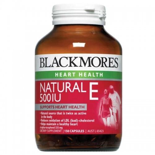 Thuốc bổ tim gan thận Blackmores Natural E 500IU 150 Viên
