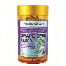 Thuốc bổ tim mạch Healthy Care Grape seed Extract 12000 mg tinh chất hạt nho 300 viên