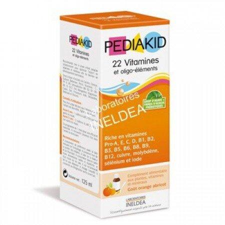 Thuốc Bổ Tổng Hợp PediaKid 22 Vitamins - 125ml