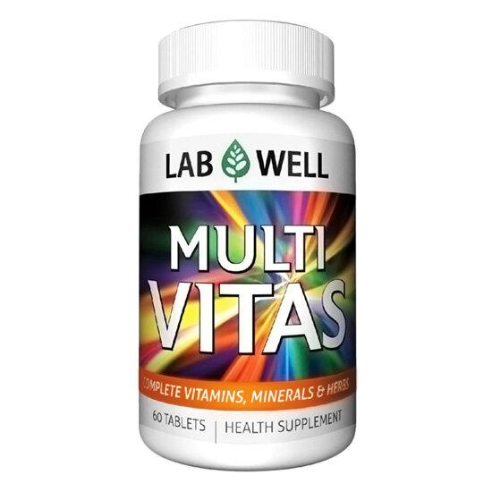 Thuốc cung cấp vitamin và khoáng chất Lab well Multi Vitas 60 viên