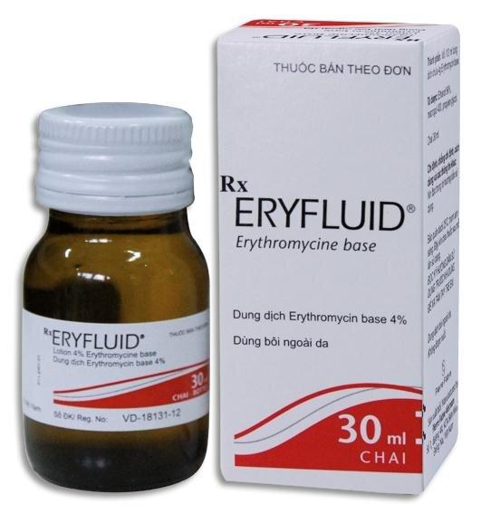 Thuốc điều trị mụn mủ viêm Eryfluid