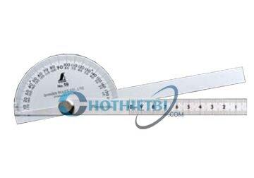 Thước đo góc Shinwa 62490, 100mm