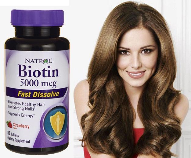 Thuốc mọc tóc Biotin 5000 mcg fast dissolve 250 viên