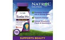 Thuốc mọc tóc Natrol Biotin 5000mcg Extra Strength 250 viên