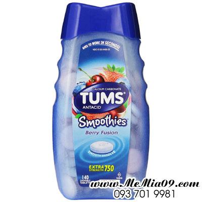 Thuốc nhai Tums extra strength 750 Tropical Fruit