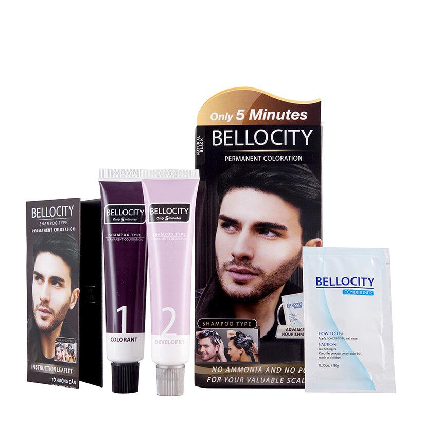 Thuốc nhuộm tóc dạng dầu gội Bellocity màu đen