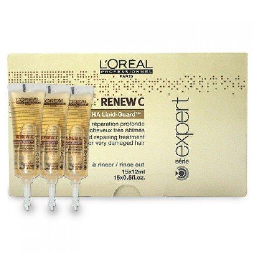 Tinh chất phục hồi cấu trúc tóc trước khi hấp dầu L'oreal Renew C - 12mlx15