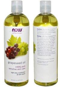 Tinh dầu hạt nho Now Grapeseed Oil 100% Pure Sensitive Skin Care 118ml
