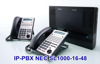 Tổng đài điện thoại IP-PBX NEC SL1000-16-48