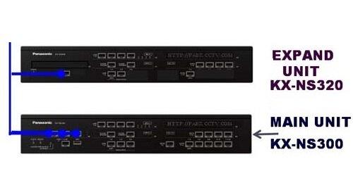 Tổng đài Panasonic KX-NS300, 6 trung kế, 40 máy nhánh
